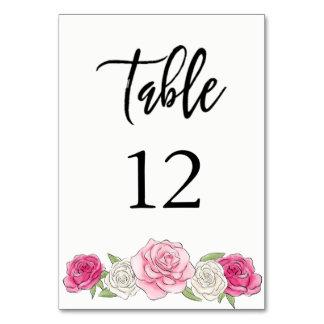 Cartão Rosa feito sob encomenda Weddin Pastel floral do