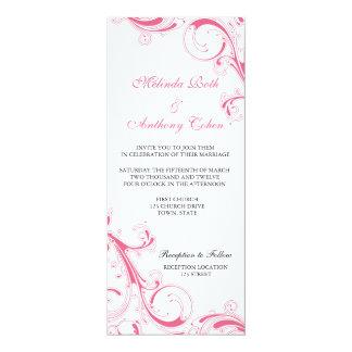 Cartão Rosa filigrana do redemoinho