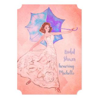 Cartão Rosa morno do chá de panela