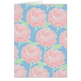 Cartão Rosa Pastel feminino bonito e impressão floral
