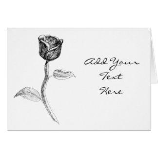 Cartão Rosa preta
