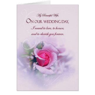 Cartão Rosa sentimental do rosa do aniversário de