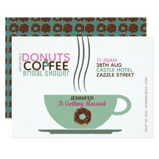 Cartão Rosa Turq do chá de panela das ROSQUINHAS do CAFÉ