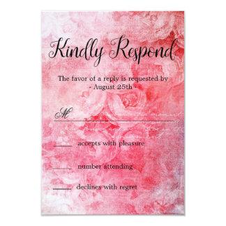 Cartão Rosa velho cor-de-rosa romântico rústico