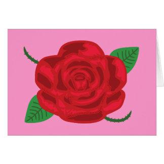 Cartão Rosa vermelha bonito