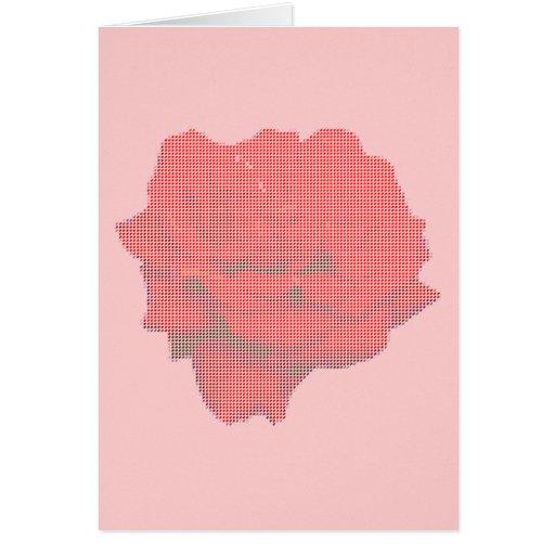 Cartão -- Rosa vermelha no pequeno ponto