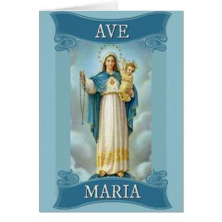 Cartão Rosário da CRIANÇA do CRISTO da VIRGEM MARIA da
