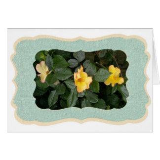 Cartão Rosas amarelos
