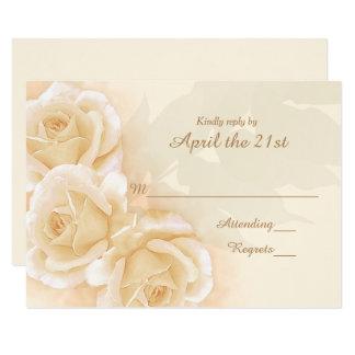 Cartão Rosas amarelos & eucalipto que Wedding RSVP