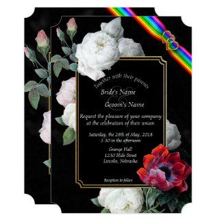 Cartão Rosas brancos & primavera vermelho quarta-feira da