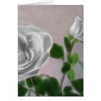 Cartão Rosas cinzentos 1 trabalho de arte
