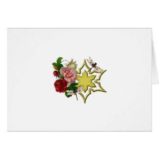 Cartão Rosas com libélula