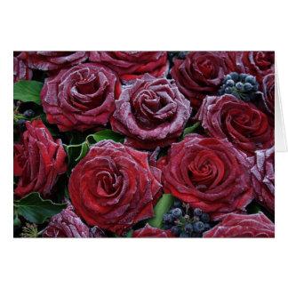 Cartão Rosas congelados