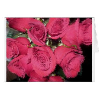 Cartão Rosas cor-de-rosa com escova seca II.jpg