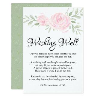 Cartão Rosas cor-de-rosa da aguarela que Wedding