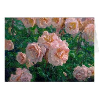 Cartão Rosas cor-de-rosa macios