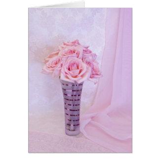 Cartão Rosas cor-de-rosa mim