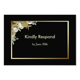 Cartão Rosas de bronze que Wedding RSVP