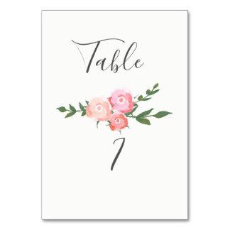 Cartão rosas de florescência da aguarela do boho que