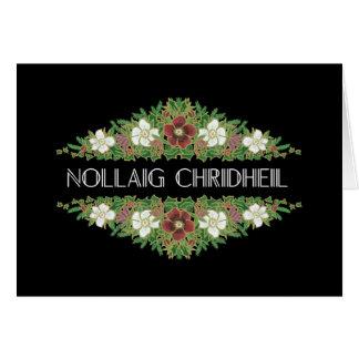 Cartão Rosas de Natal, Hellebores, gaélico escocês