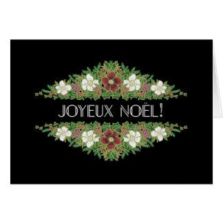 Cartão Rosas de Natal, Hellebores, língua francesa