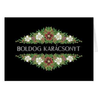 Cartão Rosas de Natal, Hellebores, língua húngara