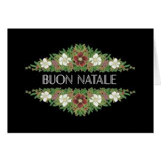 Cartão Rosas de Natal, Hellebores, língua italiana