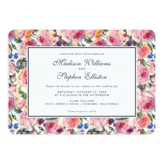 Cartão Rosas do inglês da aguarela | - casamento