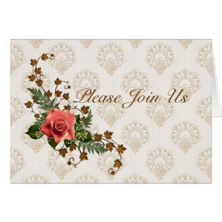 Cartão Rosas do pêssego