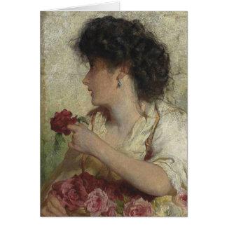 Cartão Rosas do verão