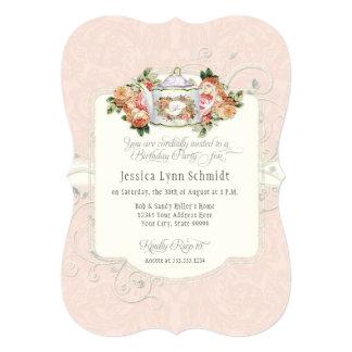 Cartão Rosas elegantes da aguarela da festa de