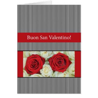 Cartão Rosas italianos do dia dos namorados