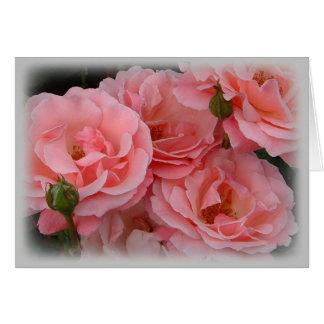 Cartão Rosas na flor