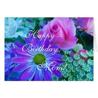 Cartão Rosas para a mamã: Mamã do feliz aniversario!