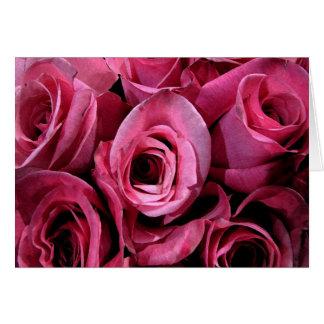 Cartão Rosas para o dia das mães
