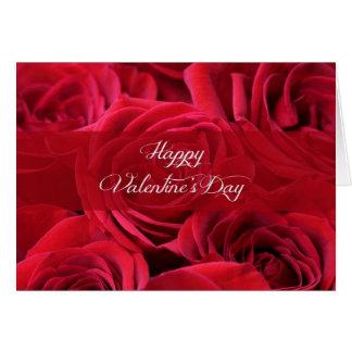 Cartão Rosas românticos do dia dos namorados