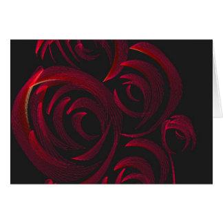 Cartão Rosas vermelhas na obscuridade