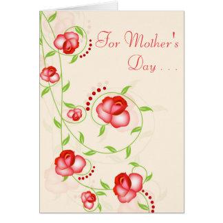 Cartão - rosas vermelhos de Ombre