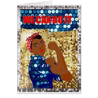 Cartão rosie africano o rebitador
