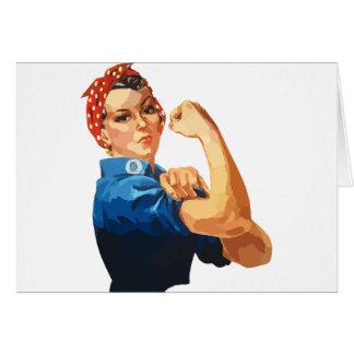 Cartão Rosie clássico feito sob encomenda o rebitador