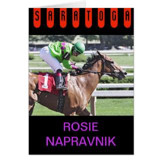 Cartão Rosie Napravnik em Saratoga