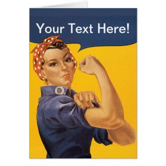 Cartão Rosie o rebitador nós podemos fazê-lo! Seu texto