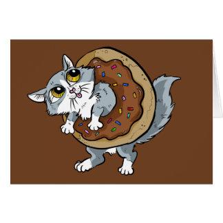 Cartão Rosquinha do doce do gatinho
