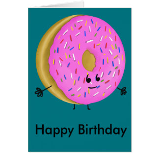 Cartão Rosquinha do feliz aniversario