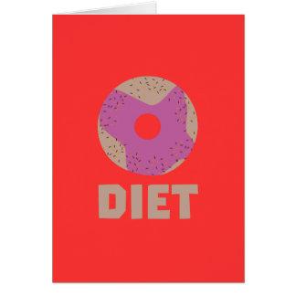 Cartão Rosquinha para as dietas Z958r