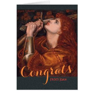 Cartão Rossetti Joana do arco Congrats CC0763