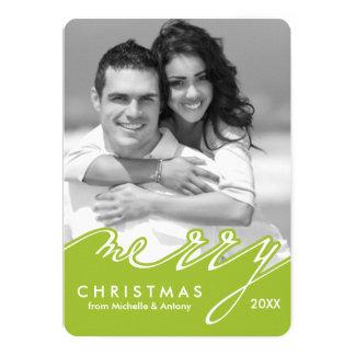 Cartão Roteiro à moda verde boas festas