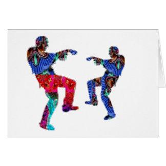 Cartão Roteiro impresso HappyHolidays da dança de Zombi