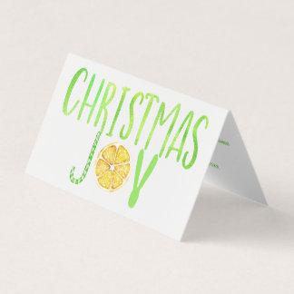 Cartão Roteiro moderno do limão do bastão de doces do