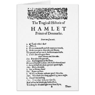 Cartão Roteiro original de Hamlet